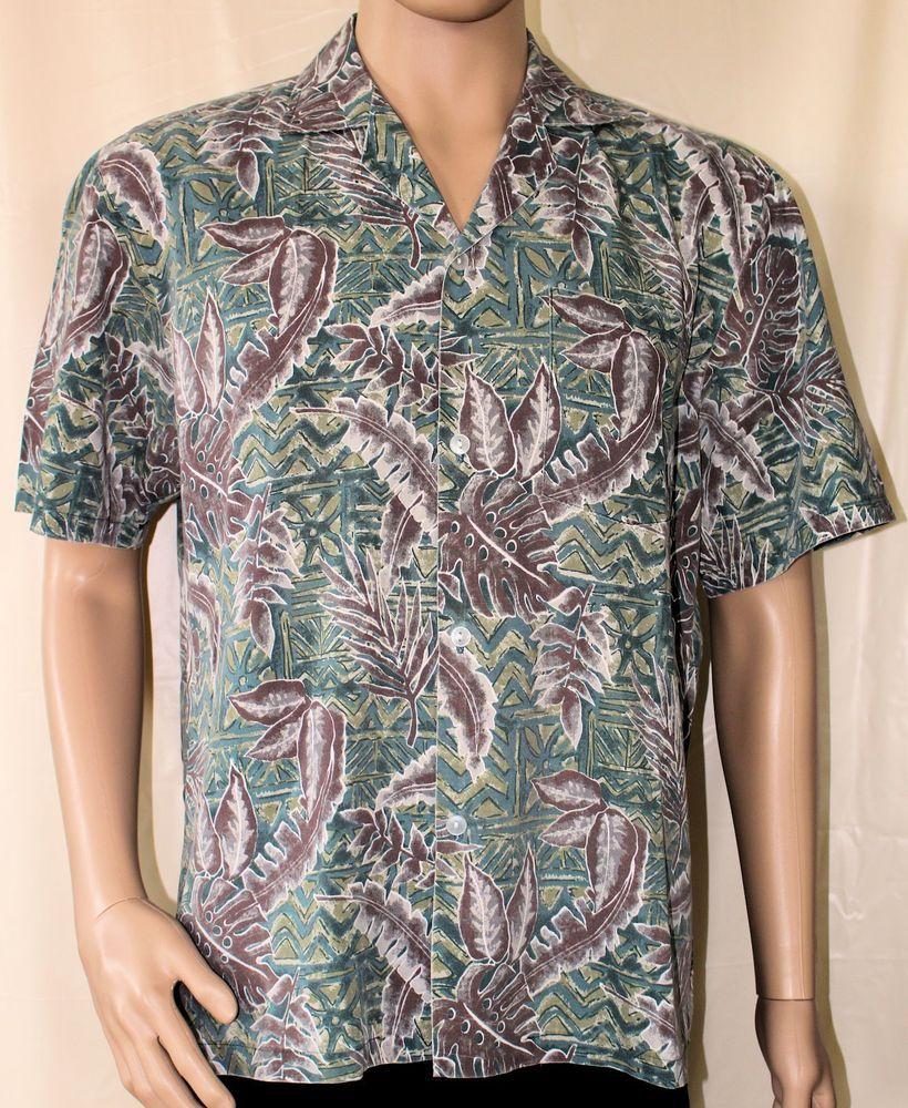 Made in Hawaii Hawaiian Aloha Shirt Under the Sea of Paradise Brown