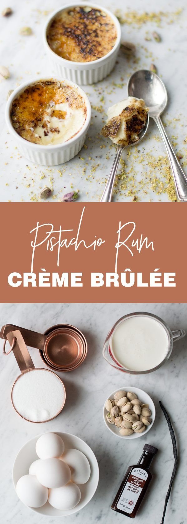 Pistachio Creme Brulee knocks ordinary creme brulee out of the park. A must try! (Favorite Desserts Creme Brulee) #cremebrulée