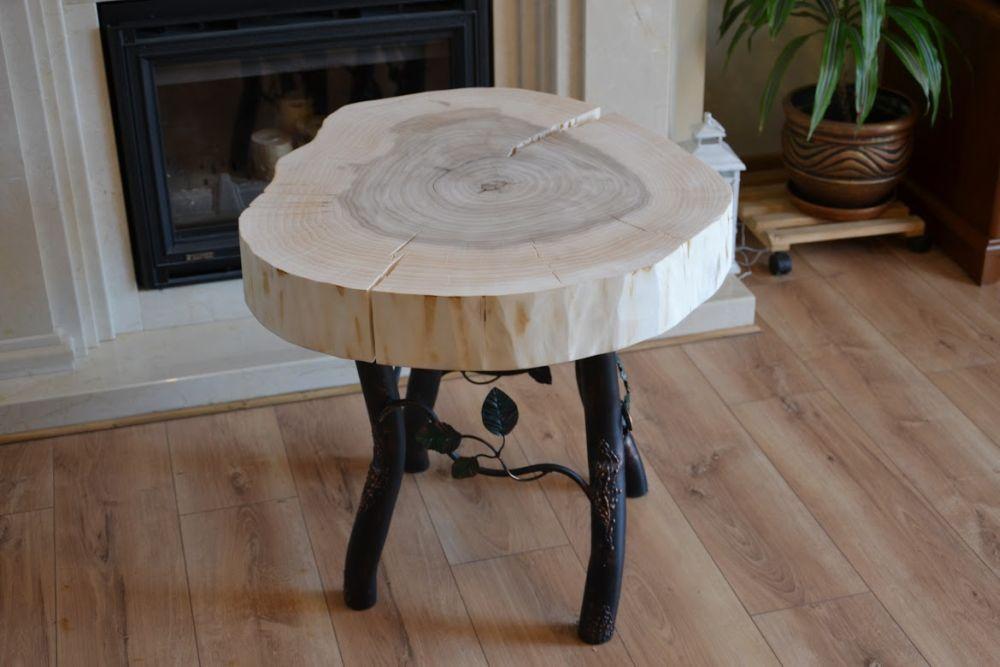 Stolik Kawowy Z Pnia Drewna ława Stół Unikat Realizacje