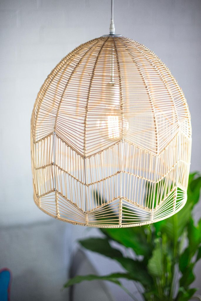 Lace Rattan Pendant Natural Small And Large Size