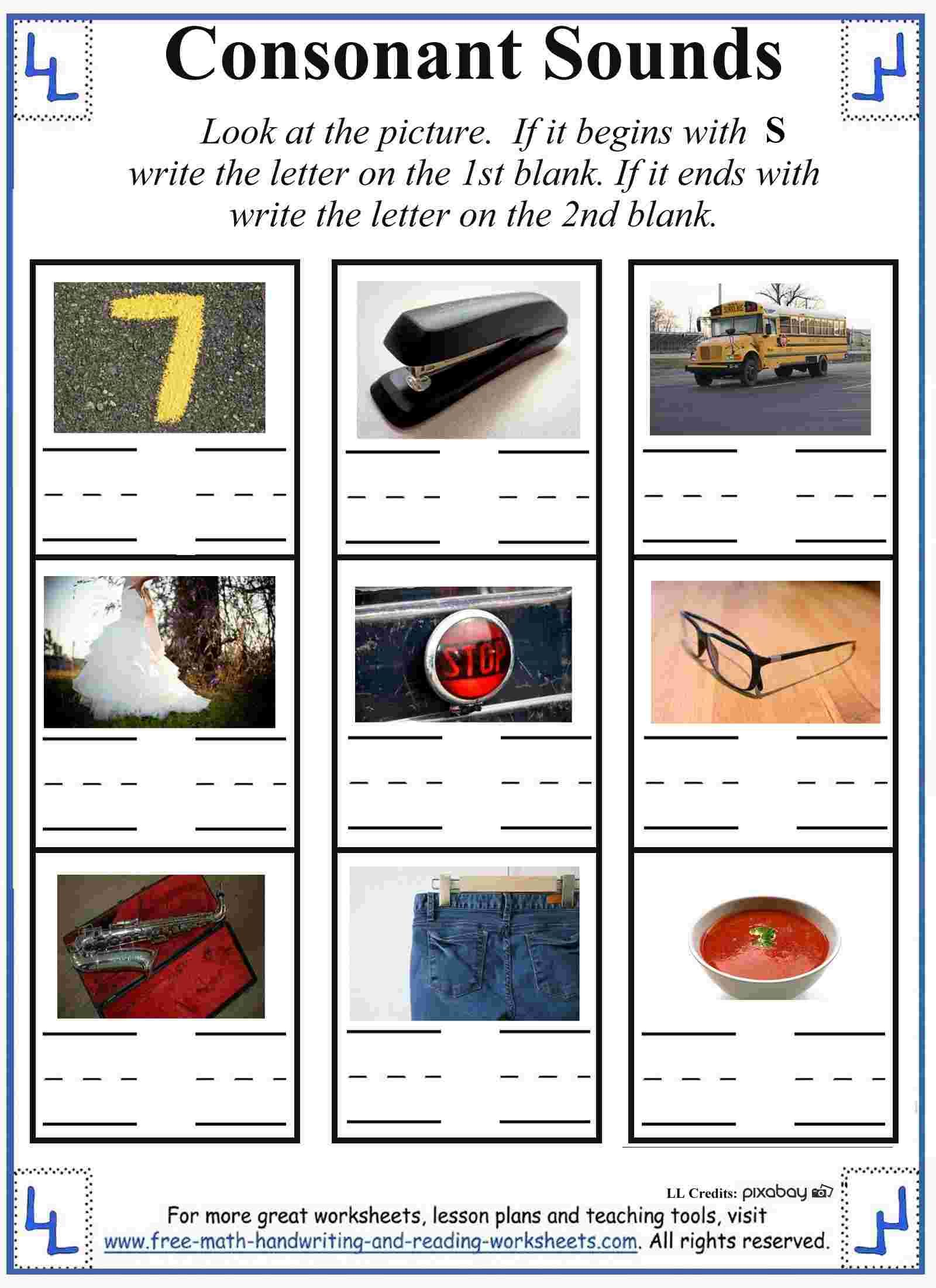 S Letter Worksheets