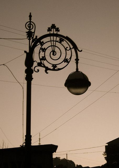 An Old Lamp Post Mussoorie Very Artistic Lamp Post Old