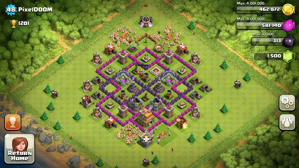 clash of clans base strategy level 7 google search