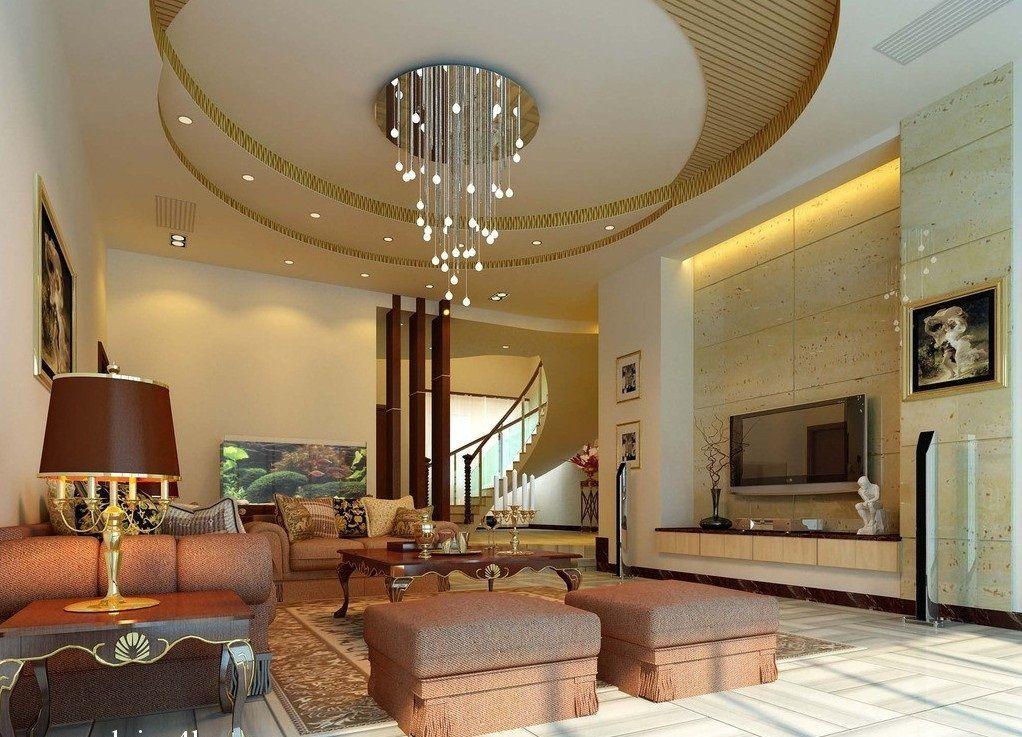 white brown round pop ceilings living room with Home Decor IdeasInterior white brown round pop ceilings living room with amazing design