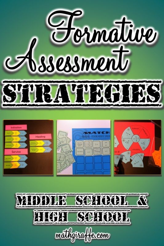Formative Assessment In Middle  High School  Math Education