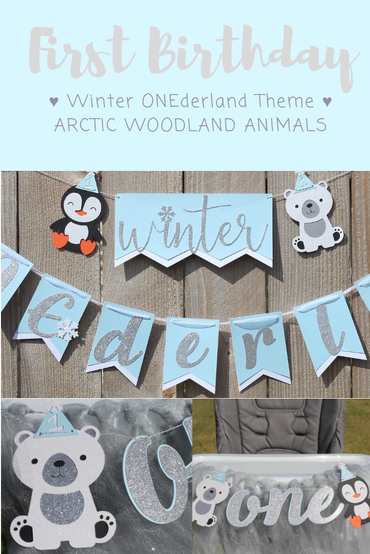 ONEderland birthday Party Decoration Digital file printable Winter Arctic Animals guestbook alternative Winter baby shower guest book gift
