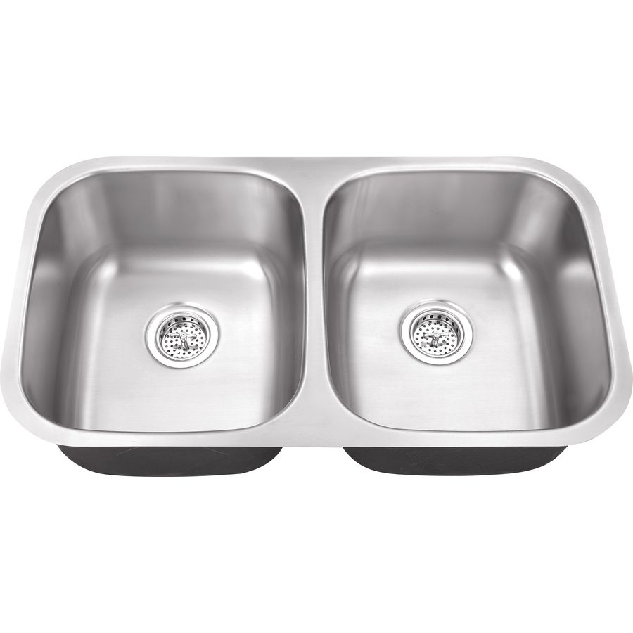 Superior Sinks 18.5-In X 32.5-In Satin Brush Stainless Steel Double ...
