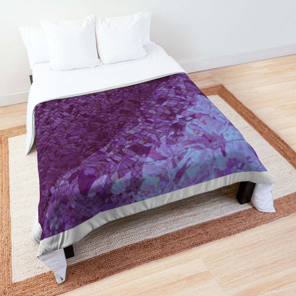'Purple waves' Comforter by Miss-Gigi #purpledormrooms
