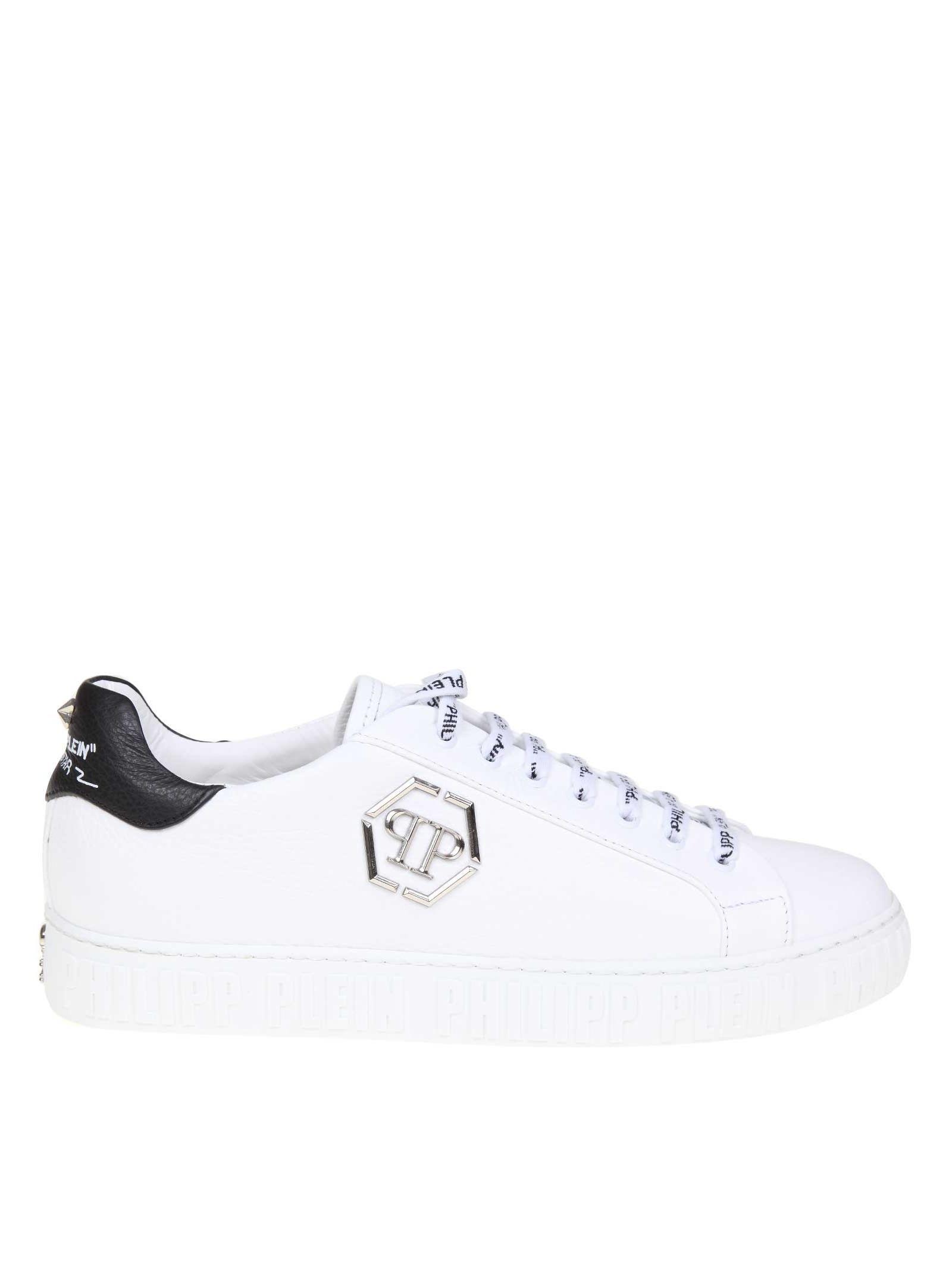 c5384c6eb4 PHILIPP PLEIN LO-TOP WHITE LEATHER SNEAKERS. #philippplein #shoes ...