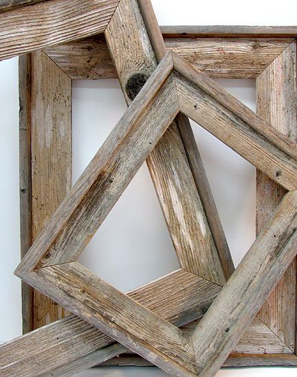 barnwood frames - add narrow baseboard to the frames I make for ...
