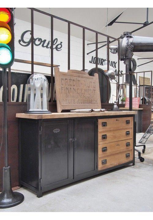 Meuble D Atelier Metallique Buffet Meuble Mobilier De Salon Meuble De Salle De Bain
