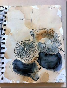 Tag 3 Aquarell Tusche Zeichnungen Skizzenbuch Inspiration