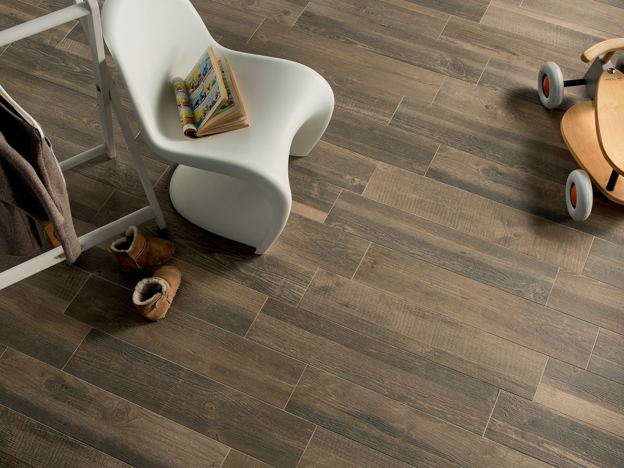 fake wood flooring. Alluring Fake Wood Flooring Idea With Dark Laminate In Walnut Finish And Embossed Scratch Textures For Rustic Inspirations 0