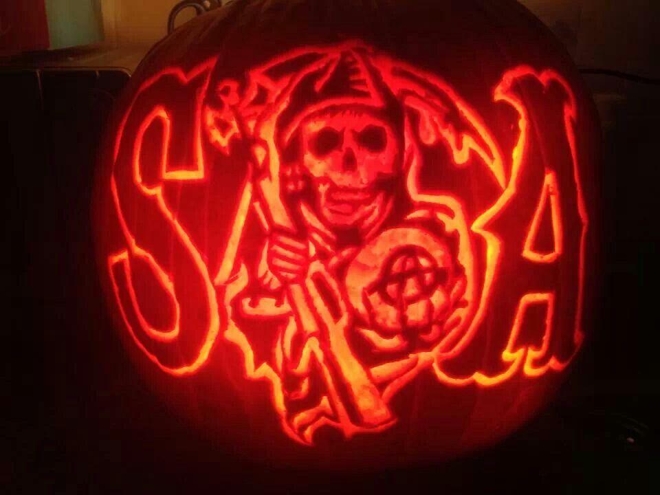 Sons Of Anarchy Pumpkin Carving Halloween Pumpkin Halloween