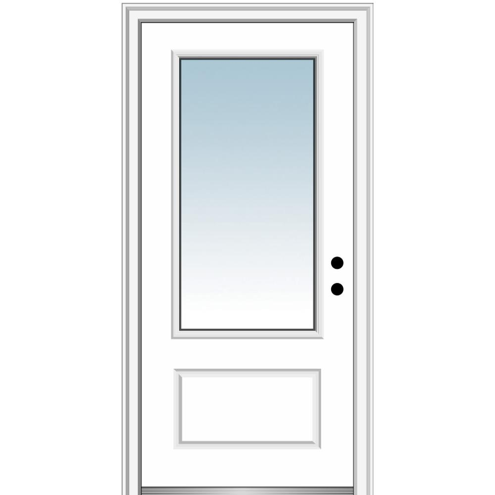 Brick House Exterior Discover Mmi Door 36 In X 80 In Left Hand Inswing 3 4 Lite Clear 1 Panel Classic Primed In 2020 Brick Exterior House Front Entry Doors Mmi Door