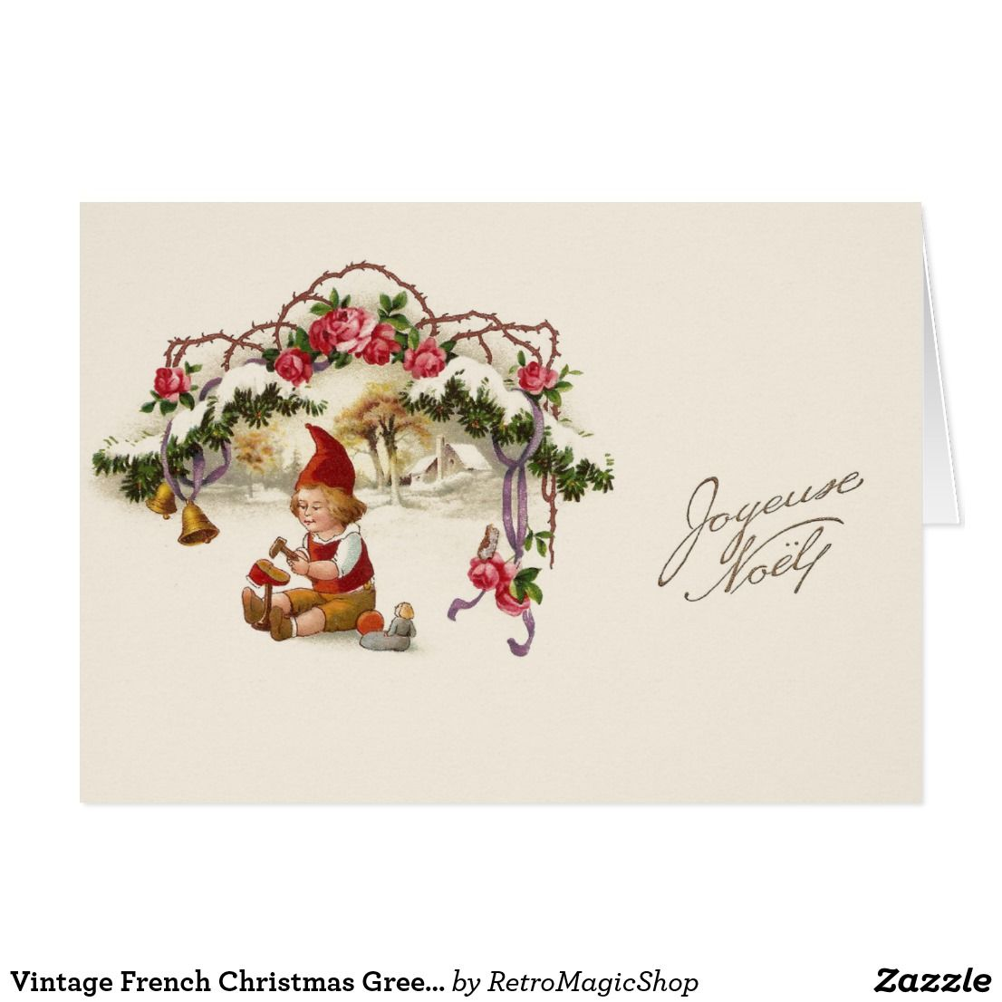 Vintage french christmas greeting card french christmas vintage french christmas greeting card m4hsunfo Images