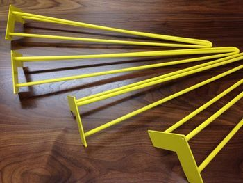 Pack Of Four Three Rod Yellow Hairpin Legs