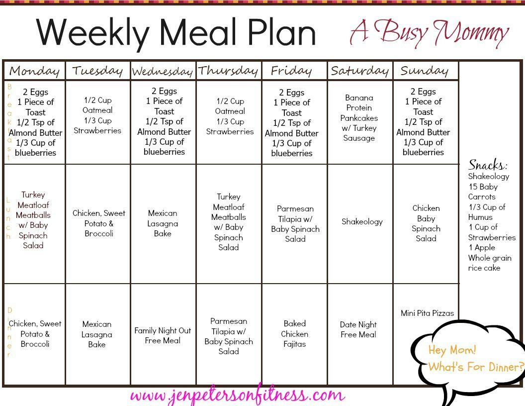 Oatmealt Meal Plan