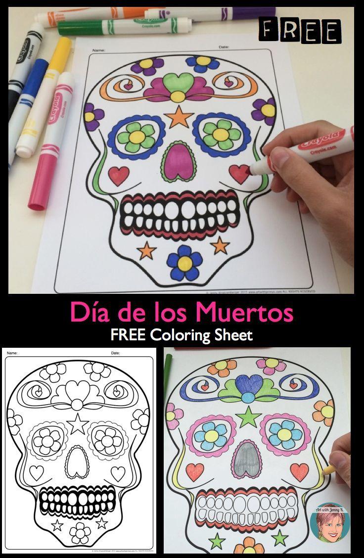FREE Día de los Muertos / Day of the Dead sugar skull ...