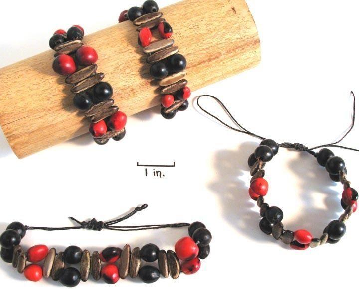 Natural Artist - Huayruro Rainforest Seed Bracelet, $20.00 (http://naturalartist.com/products/huayruro-rainforest-seed-bracelet.html)
