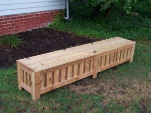 Custom Outdoor Storage Bench