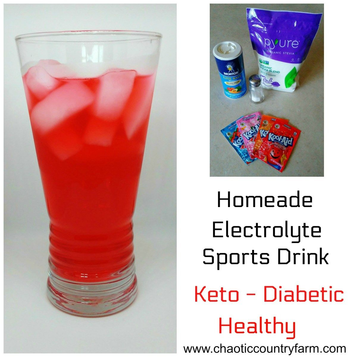 Healthy Homemade Electrolyte Sports Drink Keto Diabetic Friendly Chaotic Country Farm Homemade Electrolyte Drink Sports Drink Diabetic Friendly