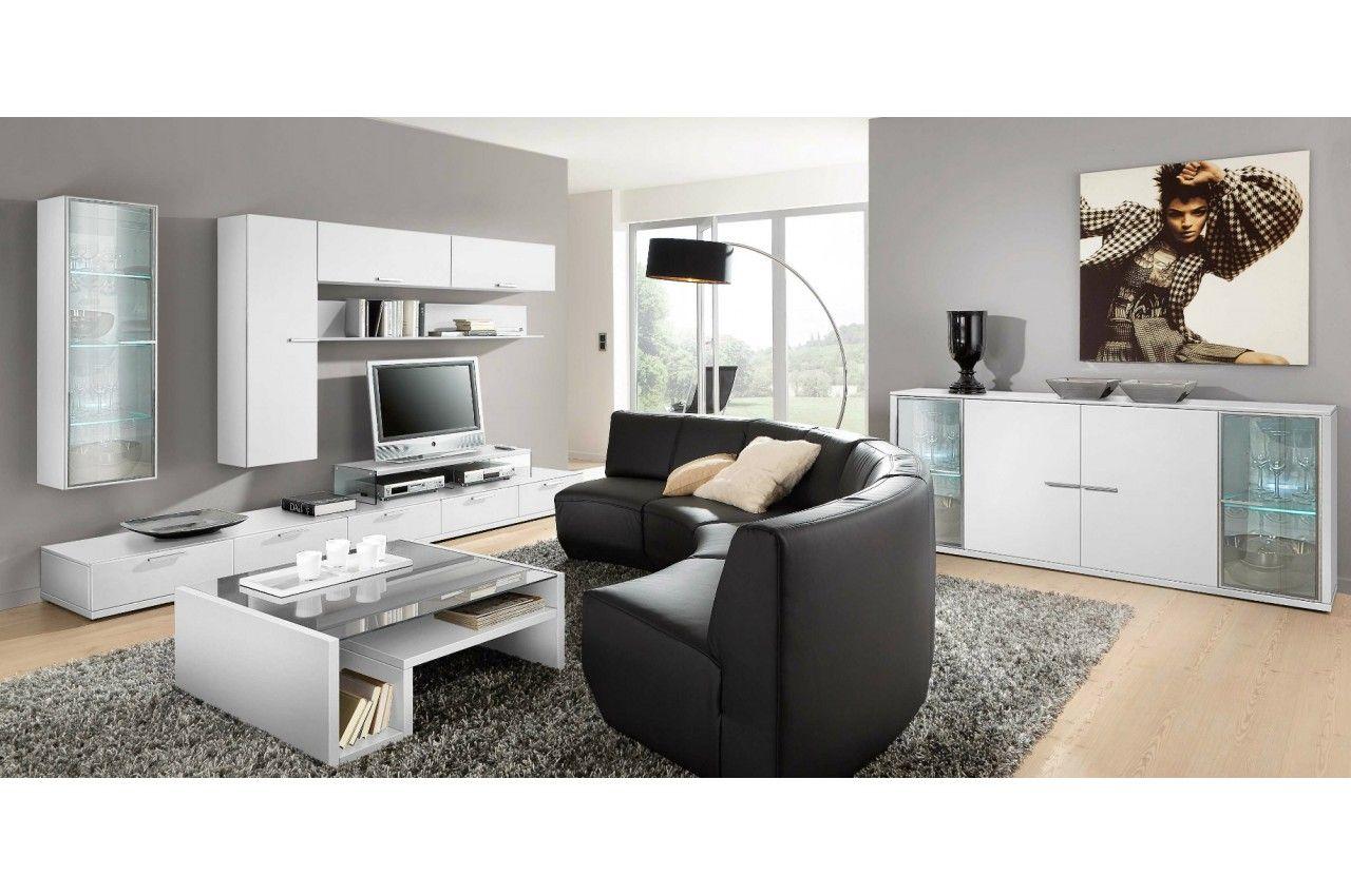 Meuble Tv Laqu Blanc Ou Noir Tendance Cbc Meubles Deco Maison  # Meuble Blanc Et Noir