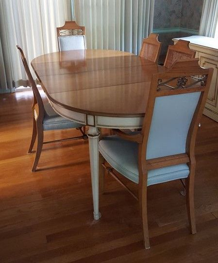 French Provincial Dining Room Set By Kindel, Grand Rapids, Incl Table,  Chairs,
