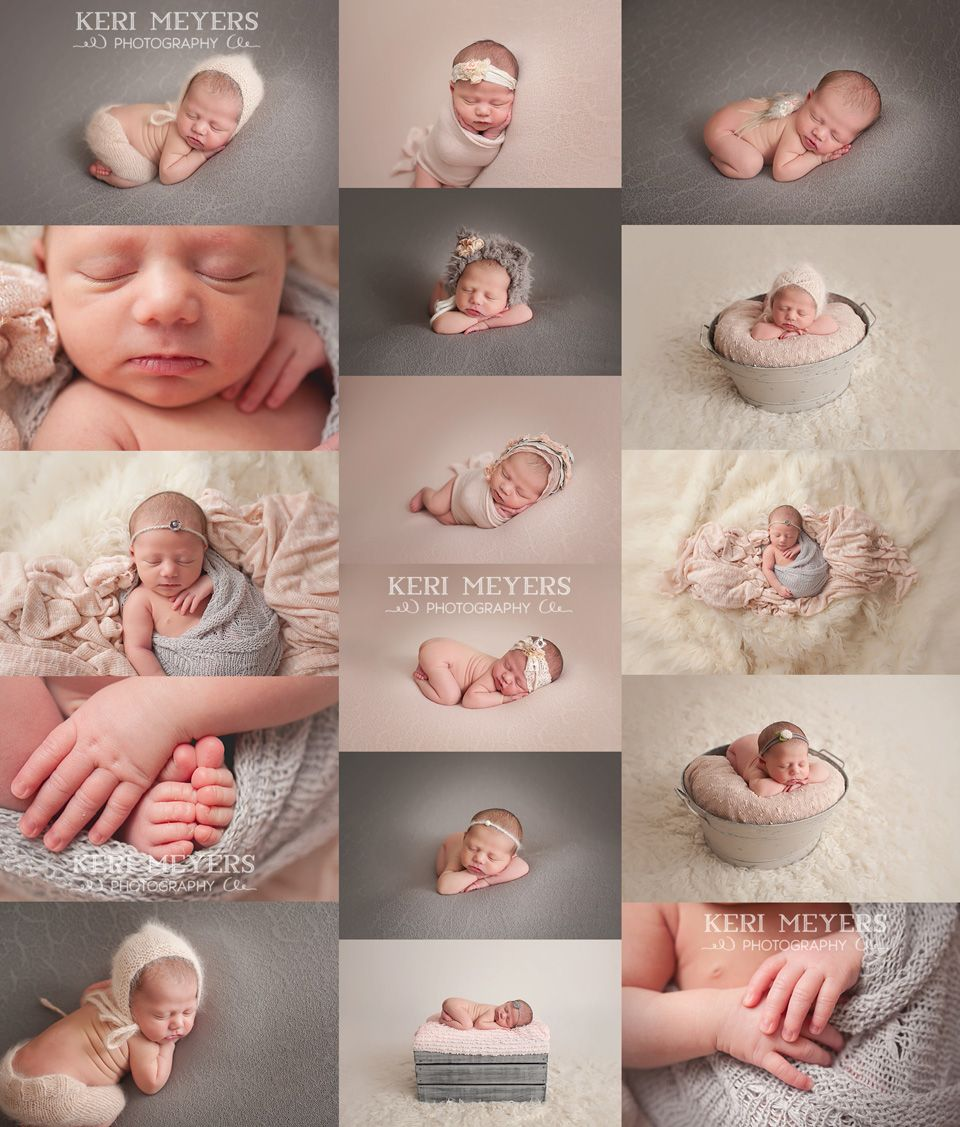 Anthem newborn baby photographer keri meyers photography baby in pink and gray