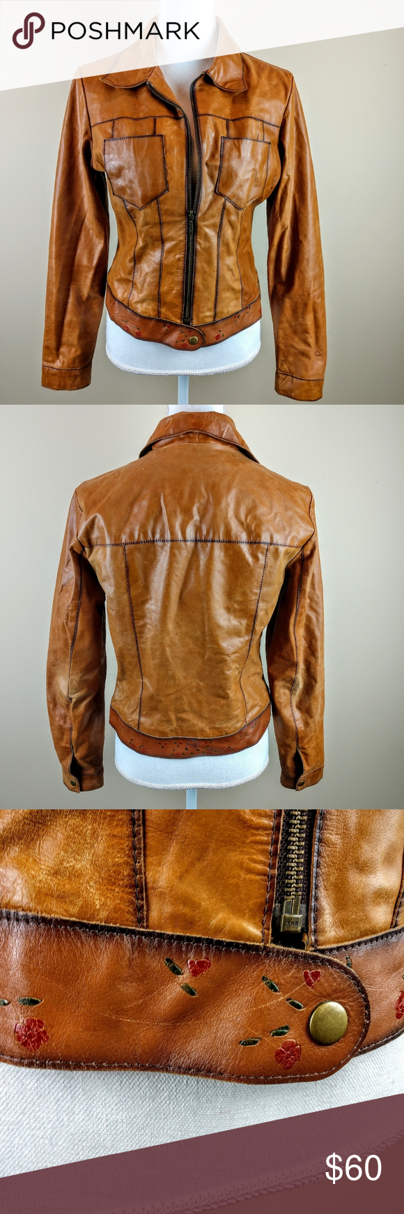 Wilsons Maxima Butter Soft Leather Moto Jacket M Leather