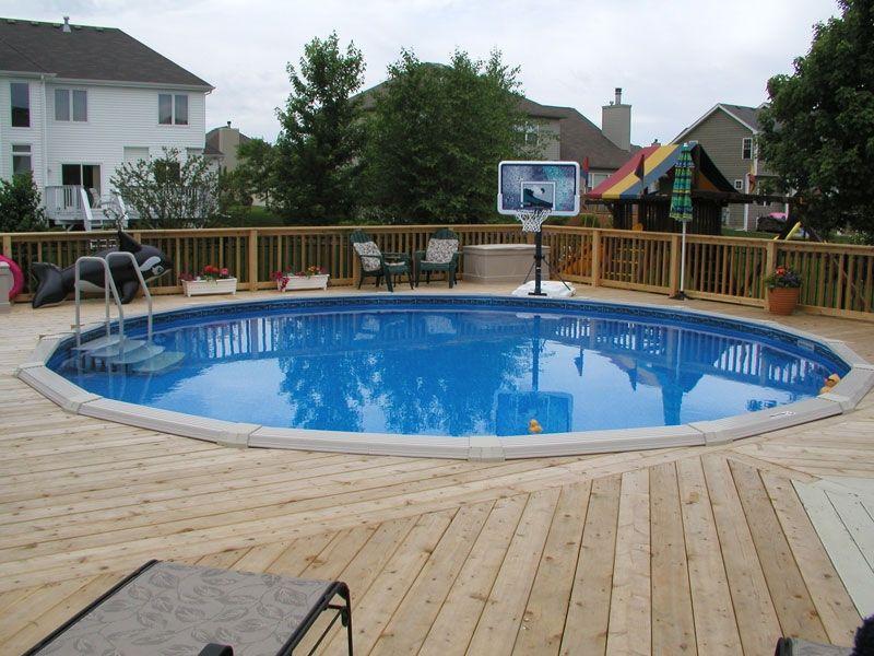 decks around round above ground pools | Pool Deck by ...