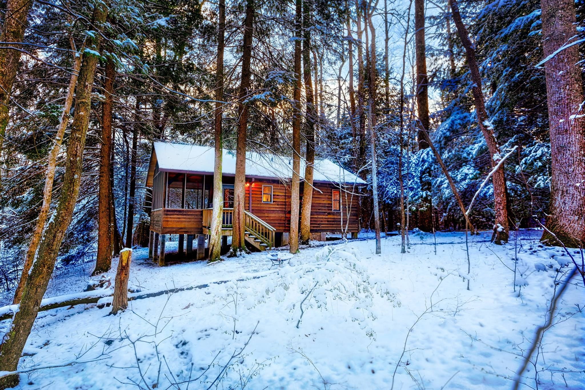 West Virginia's Best Winter Camping Awaits You At Opossum