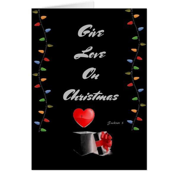 A Lyrical Christmas Card #cards #christmascard #holiday