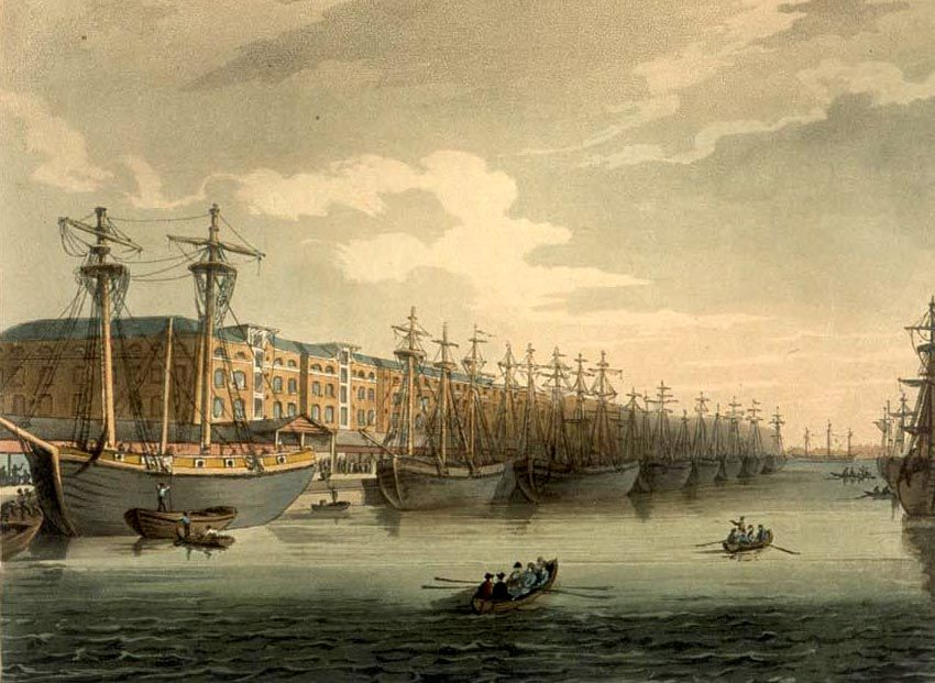 Docks Dockyards In 18th Century London Isle Of Dogs East End