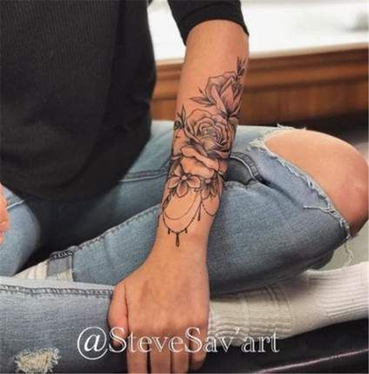 50 Chic And Sexy Arm Floral Tattoo Designs You Must Know - Women Fashion Lifestyle Blog Shinecoco.com