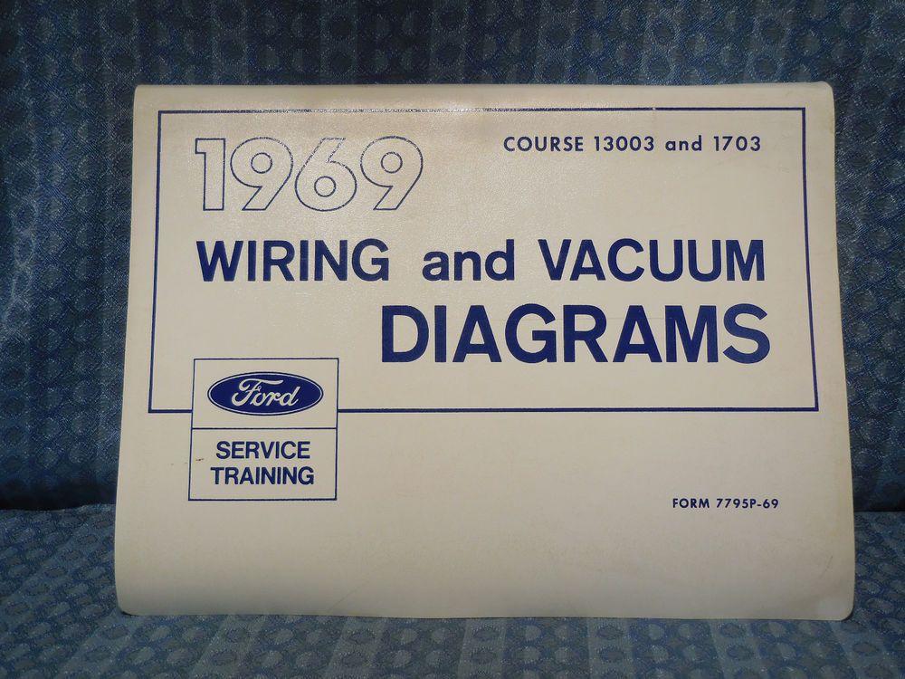 1969 Ford Lincoln Mercury Truck Original Oem Wiring Vacuum Diagrams Manual Ford Lincoln Mercury Lincoln Mercury Ford