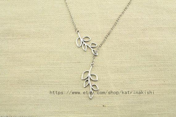 Branch / Leaf Necklace by katrinakishi on Etsy, $3.70