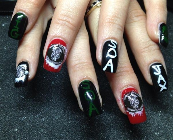 Sons of anarchy by growsenails - Nail Art Gallery ...