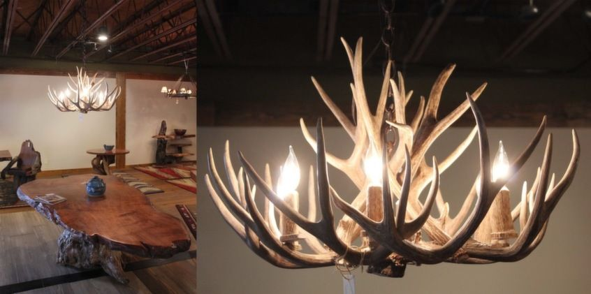 These are the luxe loves were swooning over deer antler mule deer antler chandelier xx by littlebranch farm aloadofball Images