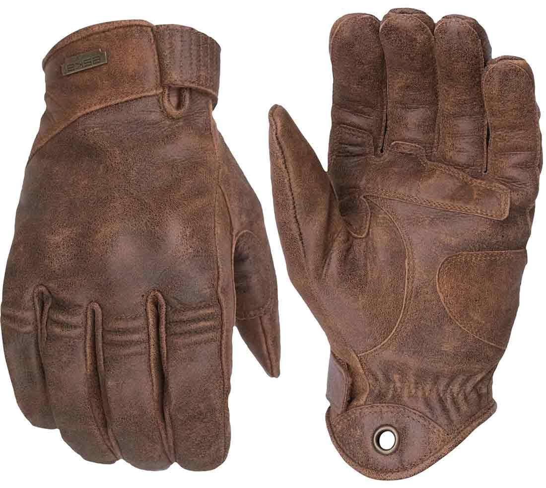 Eska Gloves Silky Prime Brown Leather Motorcycle Gloves Brown Leather Gloves Gloves