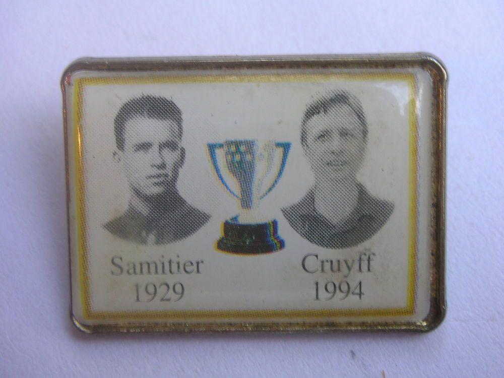 Barcelona LEGENDS Johan CRUYFF Jose SAMITIER La Liga WINNERS Football Badge Pin