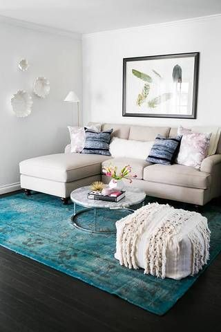 How to Make a Small Living Room Look Bigger - sofa size
