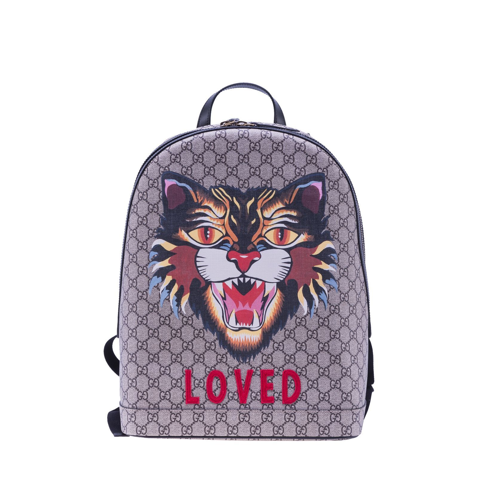 91397c82eade87 GUCCI GUCCI ANGRY CAT PRINT GG BACKPACK. #gucci #bags #leather #canvas  #nylon #backpacks #