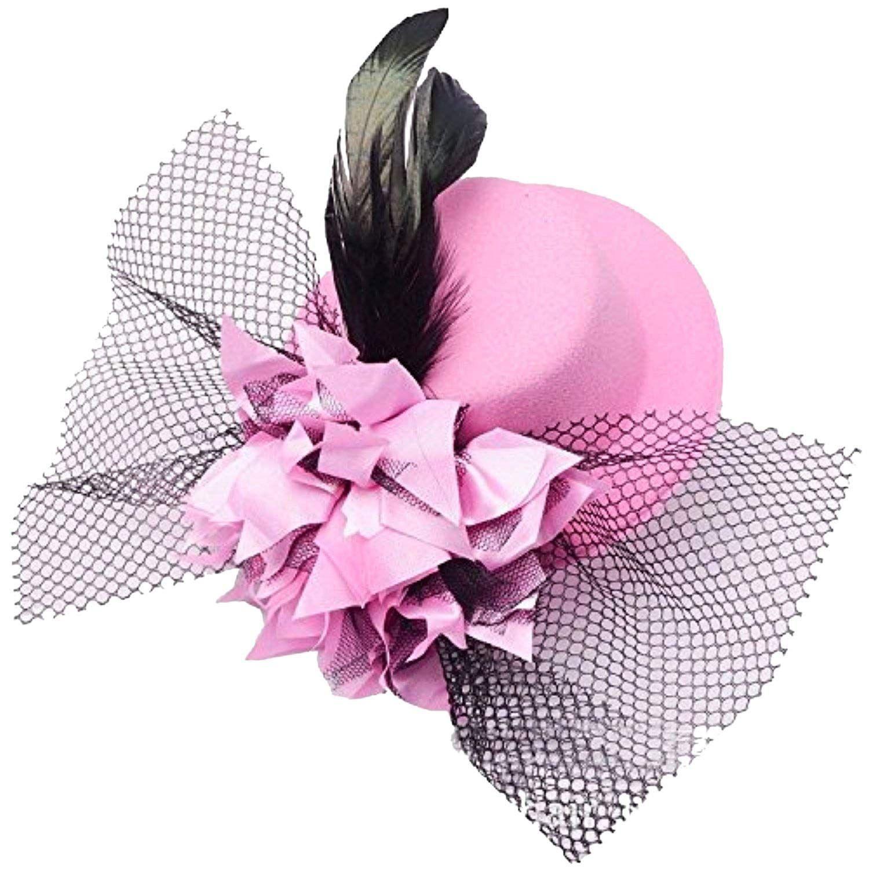 WOMEN MINI SEQUIN HAT MESH HAIRPIN WEDDING PARTY FASCINATOR HAIR CLIP FUNNY