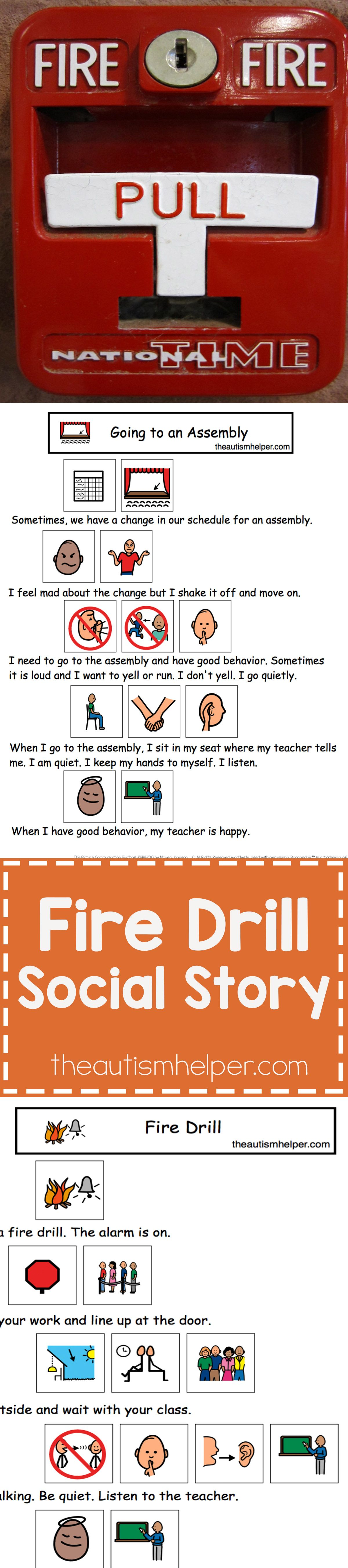 Fire Drill Social Story And More