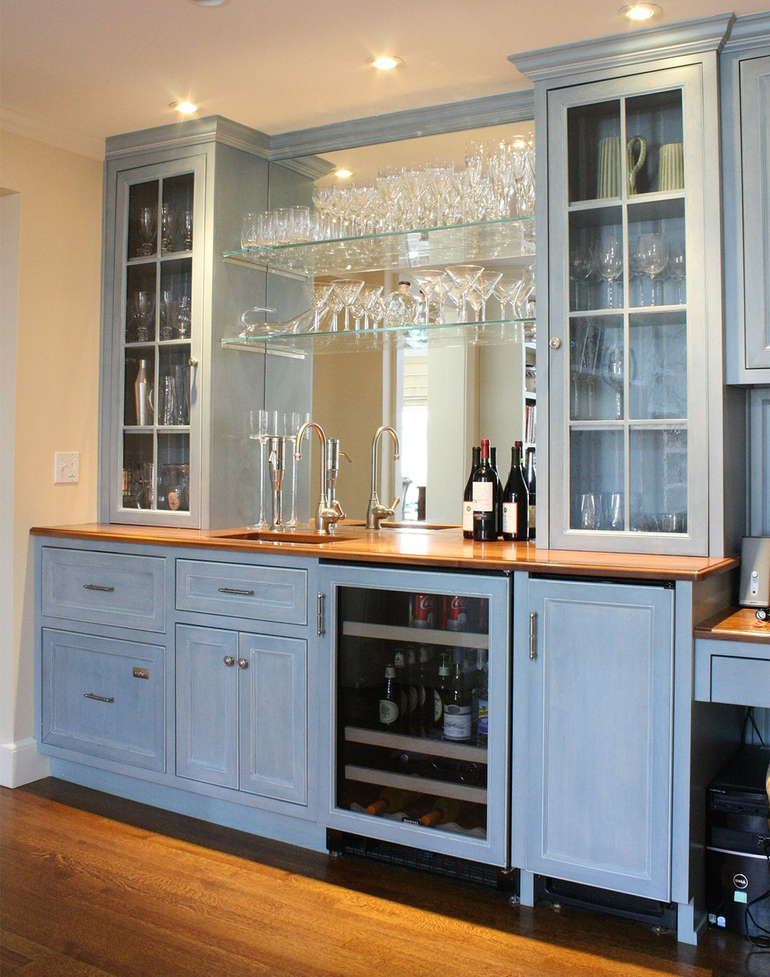 Custom Blue Bar unit with lots of room to display your collection ...