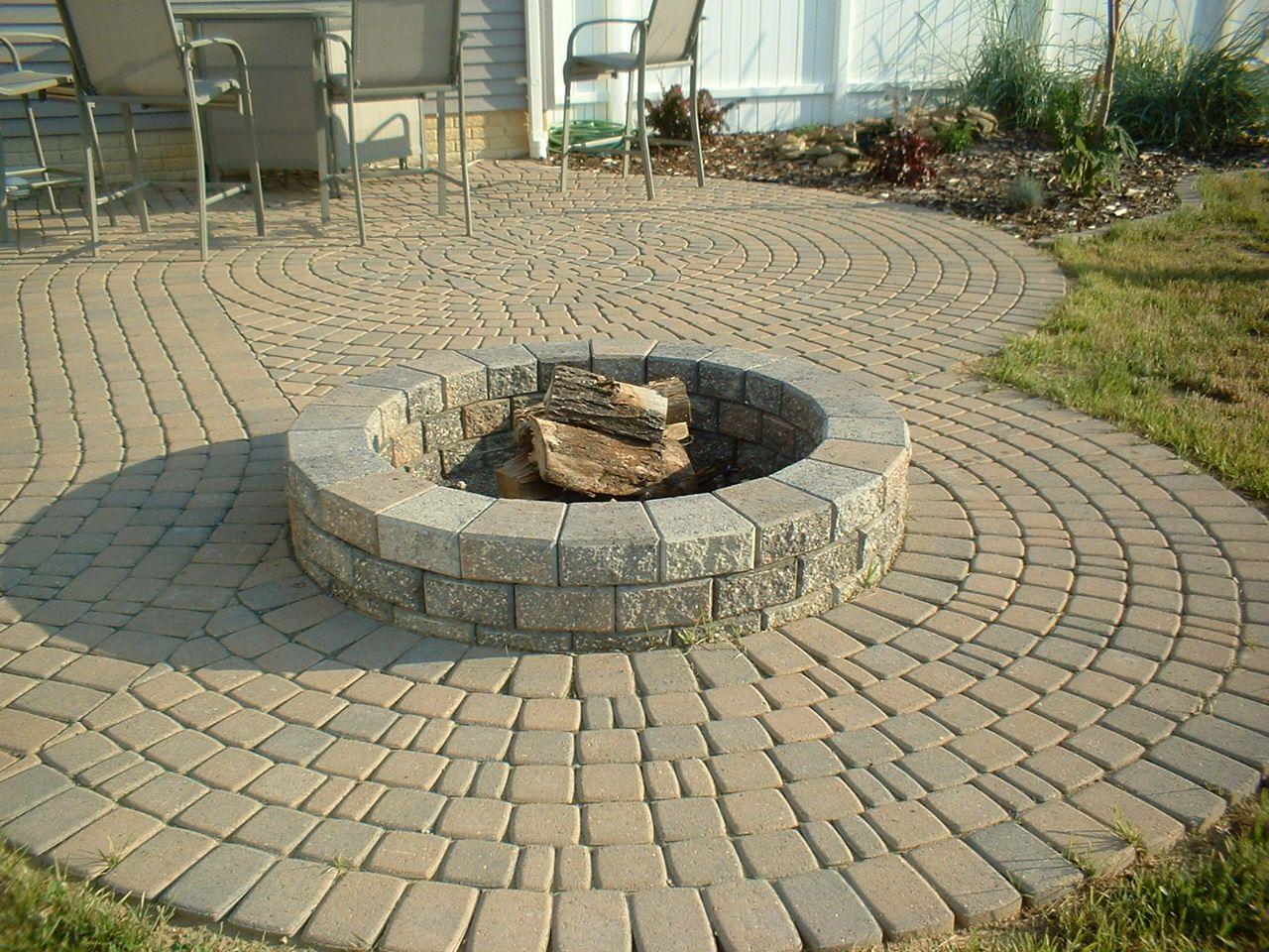 Stone Pavers Patio Design Ideas Made With Home Depot Brick Price Concrete