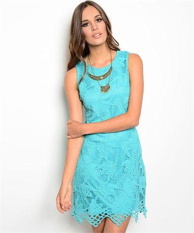 Jade Crochet Dress