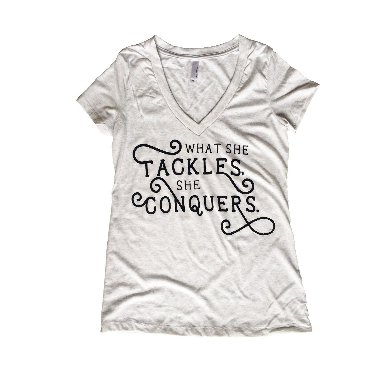 What She Tackles She Conquers Richard Rory Shirt Gilmore