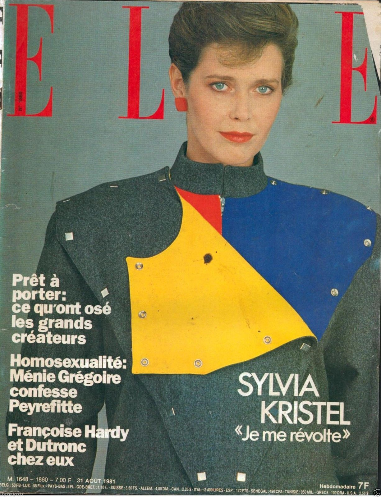 Françoise De France Prêt À Porter sylvia kristel - elle france - 31 aug 1981* | covergirls | pinterest